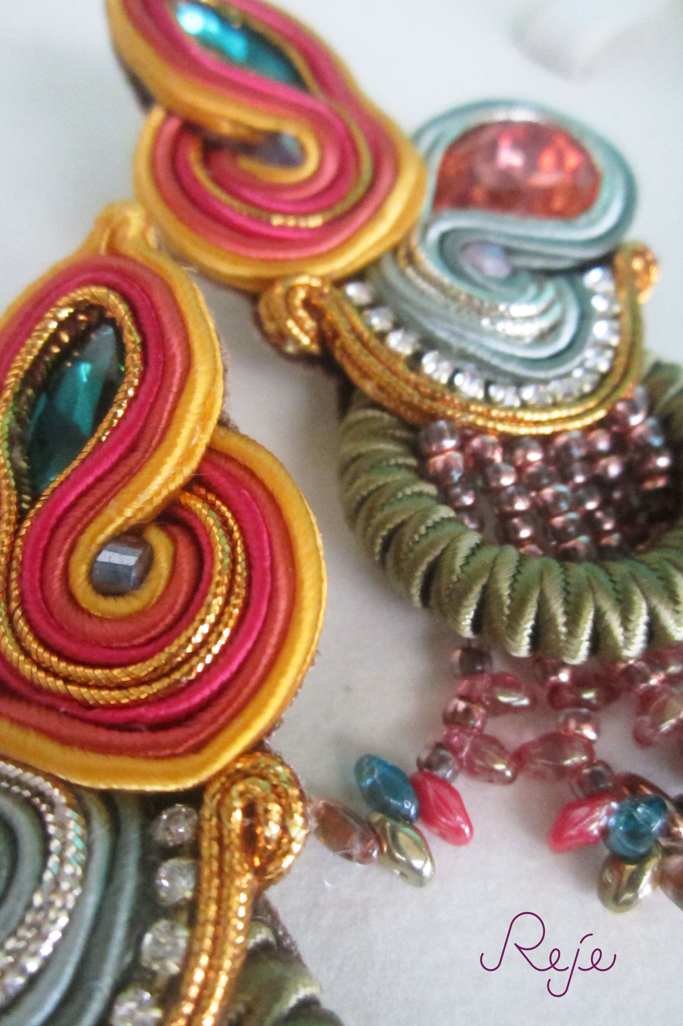 "-Details- soutache earrings ""Cuba"" www.rejesoutache.com"