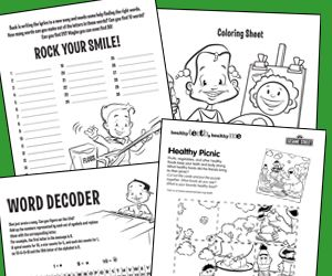 Free Dental Health Activity Sheets for Kids American