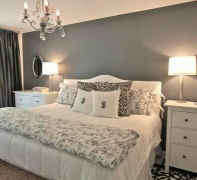 Grey & white bedroom | decoracion | Pinterest | Habitaciones de ...