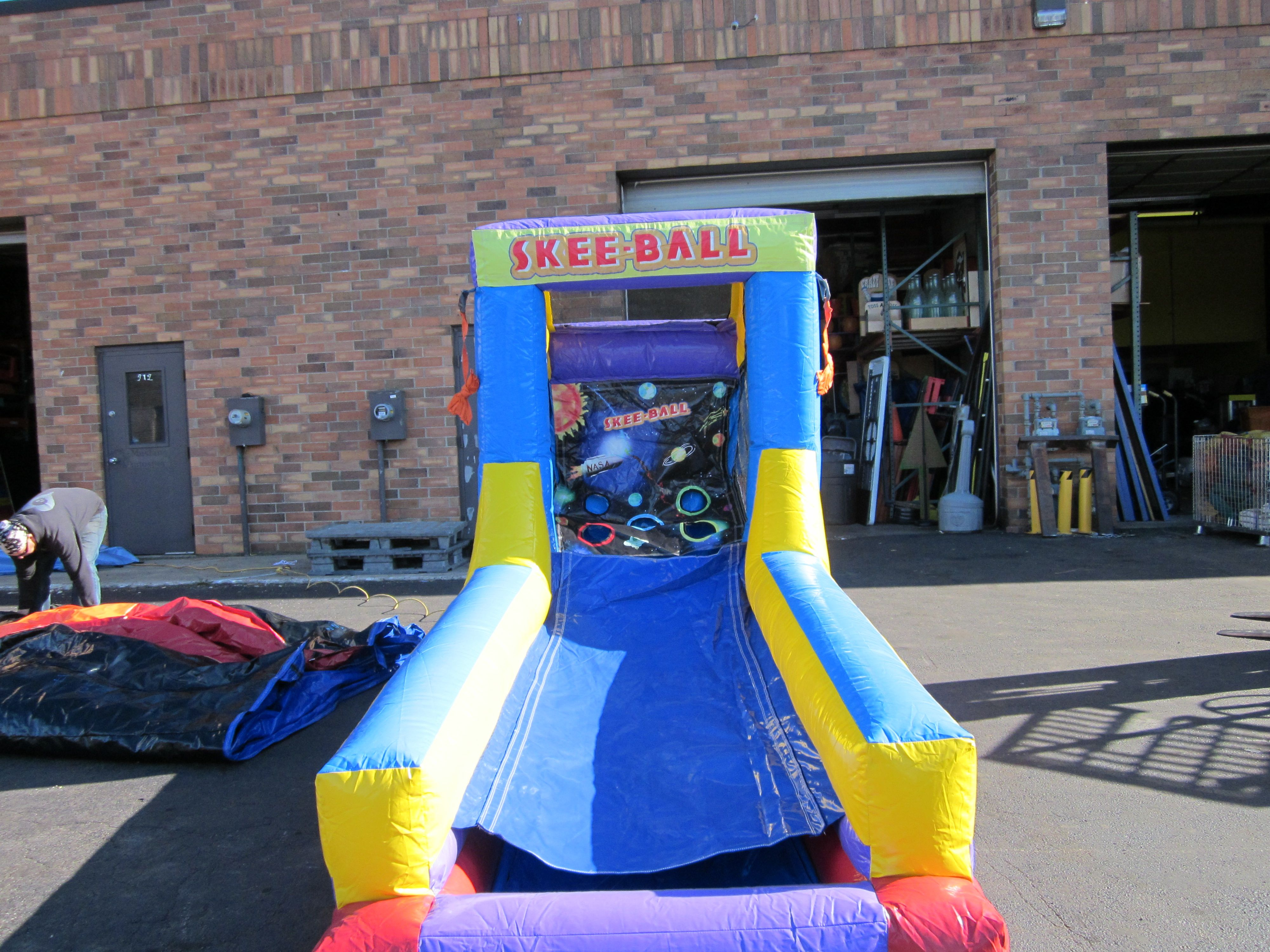 Inflatable skee ball chicago party rentals skee ball