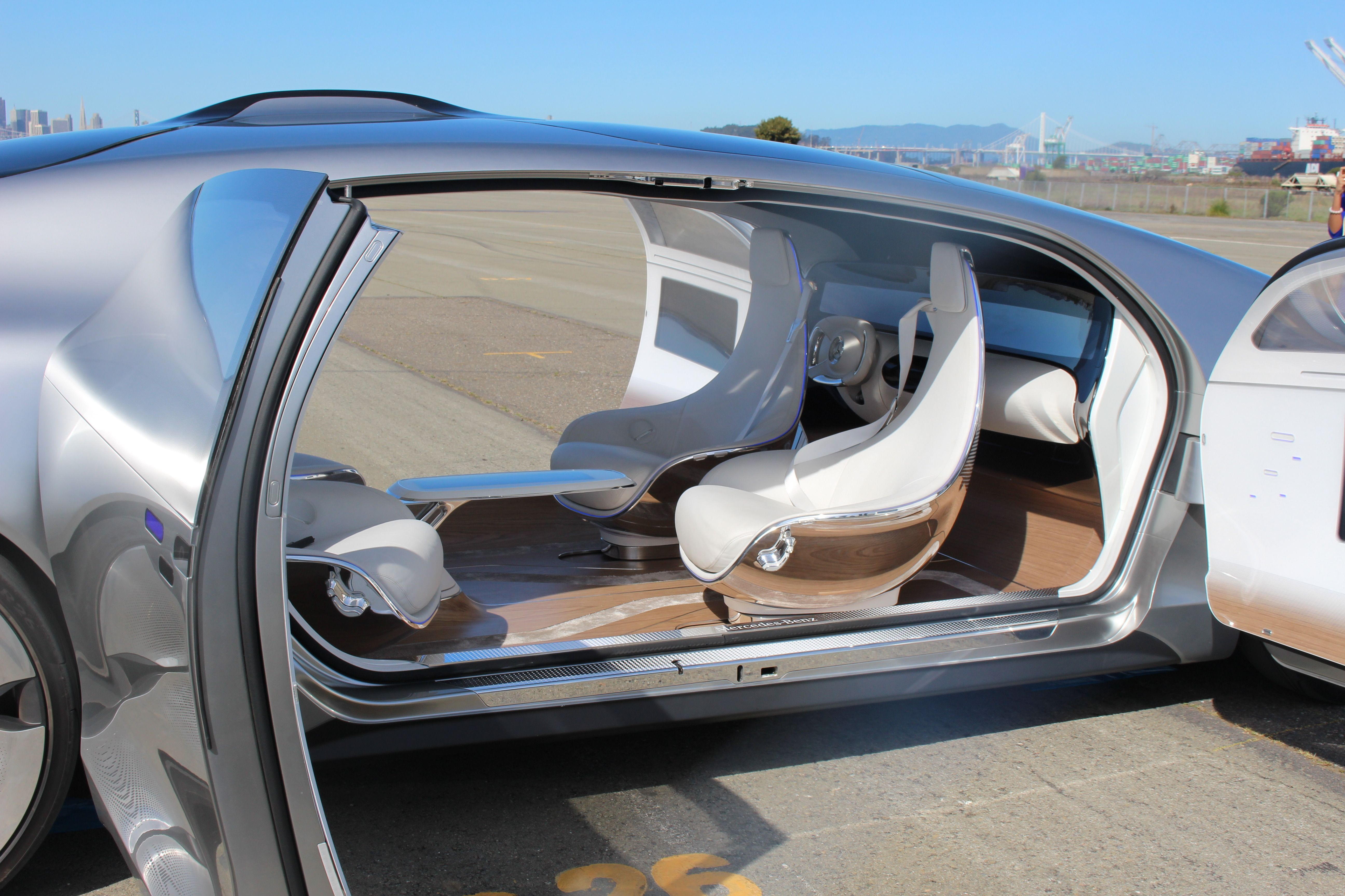 Riding In The Mercedes Benz F 015 Concept Car The Self Driving