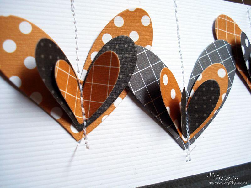 stitched layered hearts