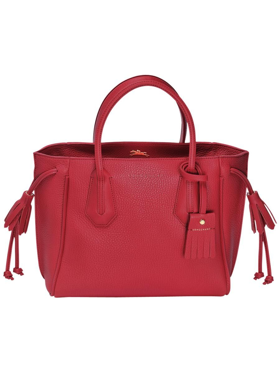 5715d10d9dc Longchamp Pénélope Sac porté main Rouge   handbbags   Pinterest ...