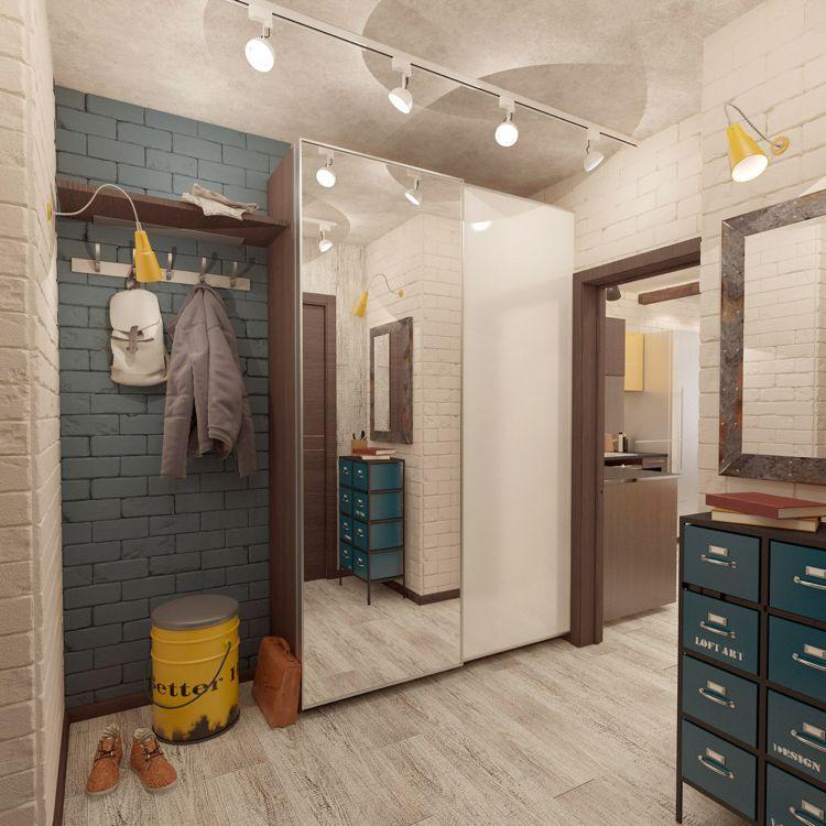 kleiderschrank mit gleitt ren perfekt f r den flur flur. Black Bedroom Furniture Sets. Home Design Ideas