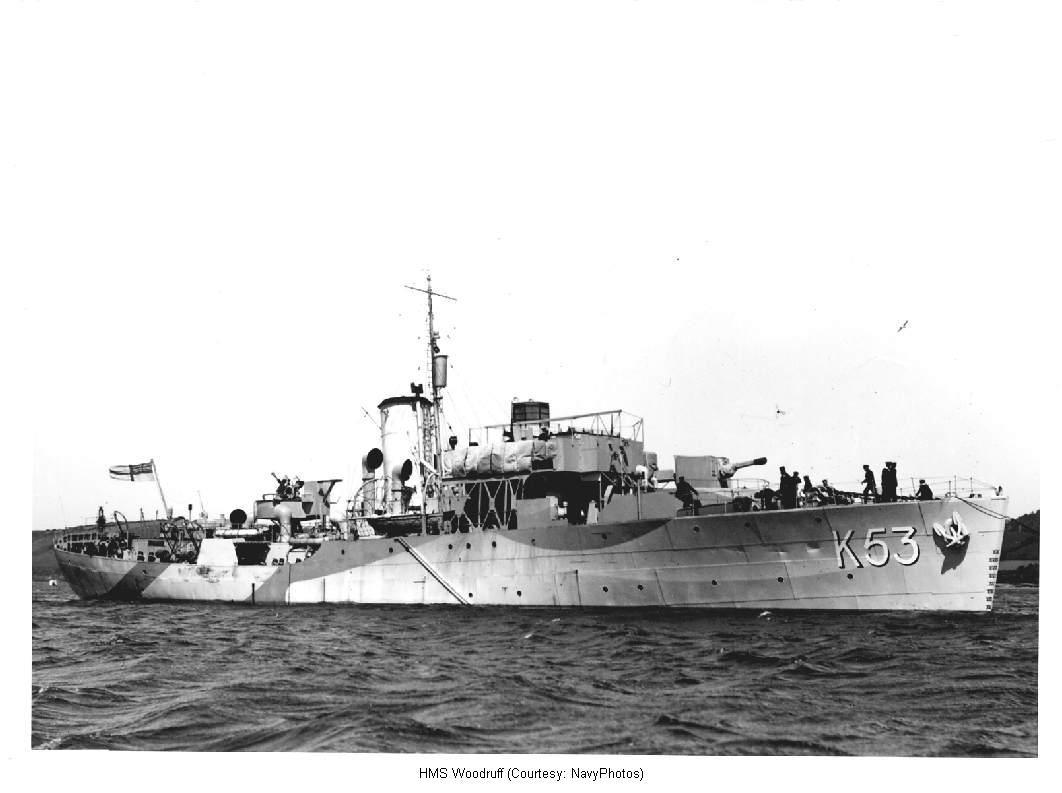 HMS Woodruff, a Flower-class corvette