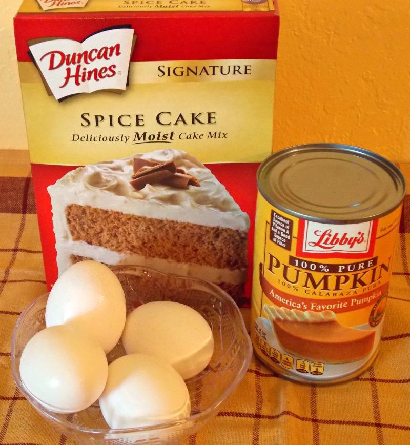 3-Ingredient Pumpkin Spice Cake