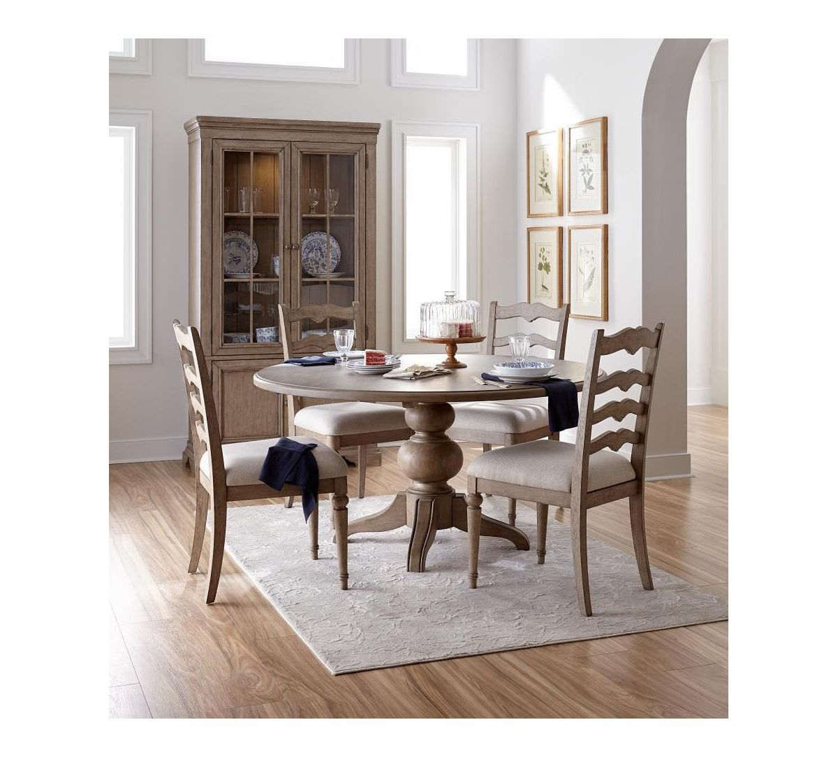 Ellan Round Dining Furniture 5 Pc Set Table 4 Side Chairs Created For Macy S Round Dining Dining Furniture Side Chairs