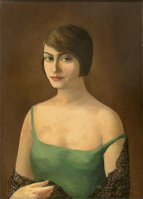Portrait of a girl by Carlo Mense (1924)