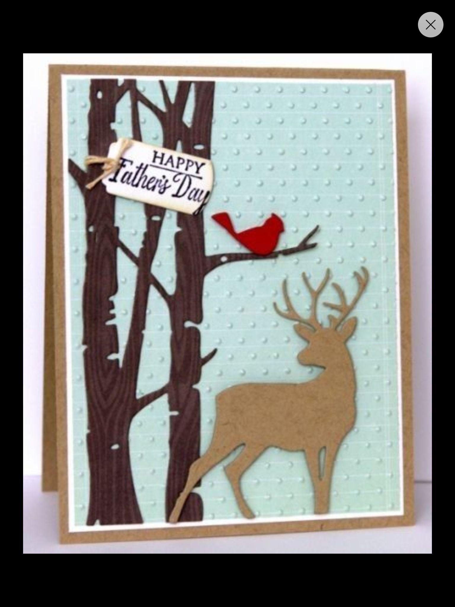 Taylored Expressions Birch Tree Border Ebay 82314 Men Card - Tarjetas-navideas-manualidades