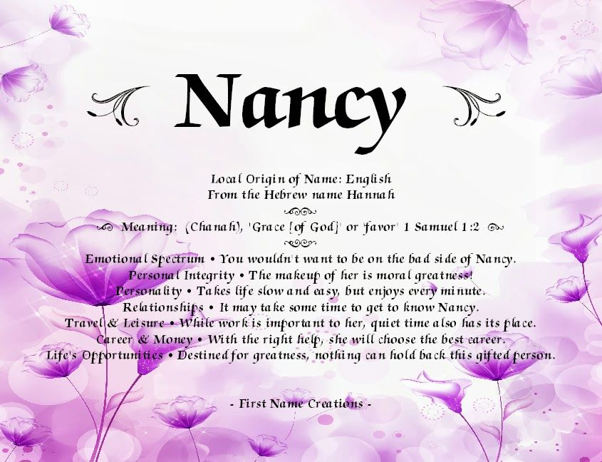 Italian Boy Name: First Name Creations: Search Results For Nancy