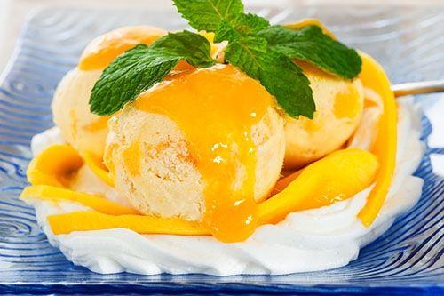 Helado con Mango y Nata Montada Te enseñamos a cocinar recetas fáciles cómo la receta de Helado con Mango y Nata Montada y muchas otras recetas de cocina..
