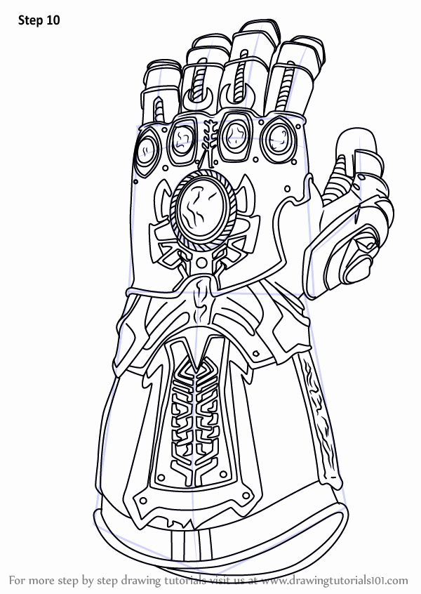Infinity Gauntlet Coloring Page Best Of Step By Step How To Draw The Infinity Gauntlet From Avengers Coloring Avengers Coloring Pages Marvel Drawings