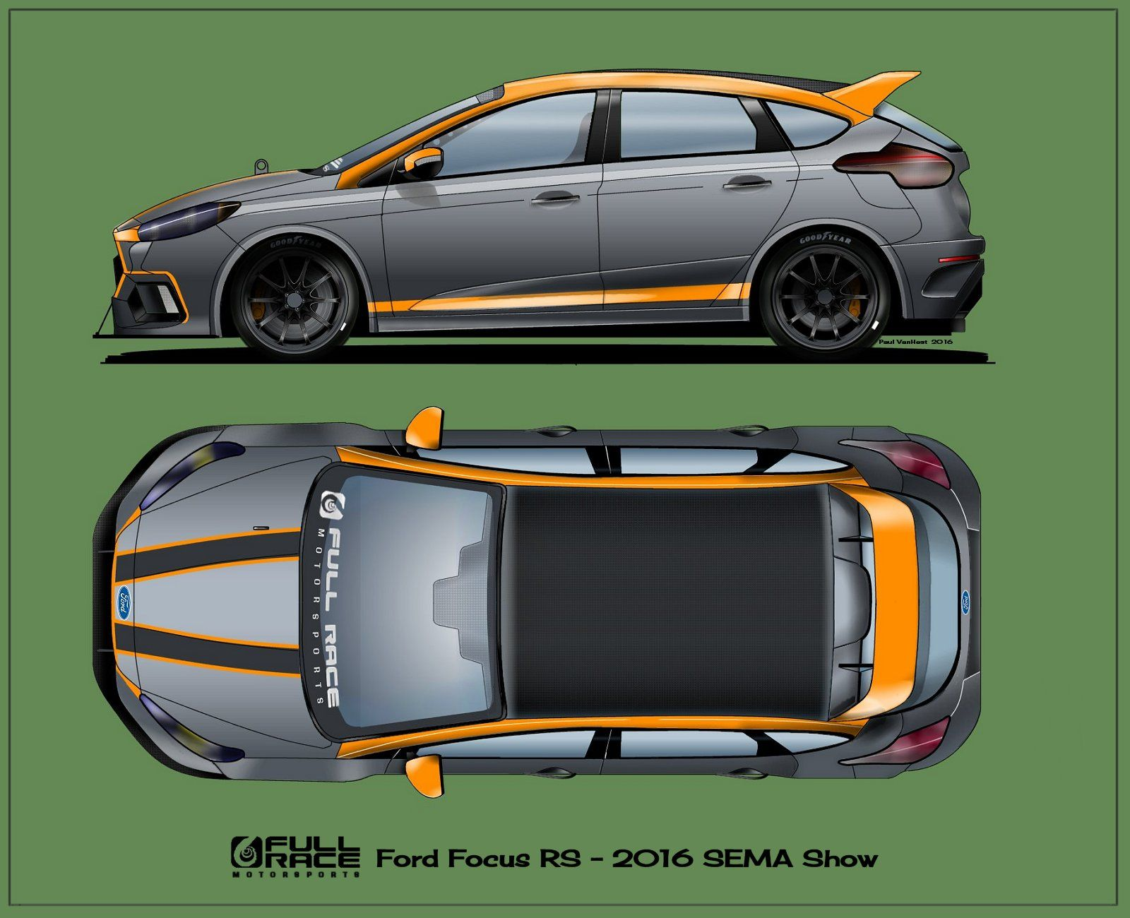 Sema Show Ford Focus Rs 2016 Livery Ford Focus
