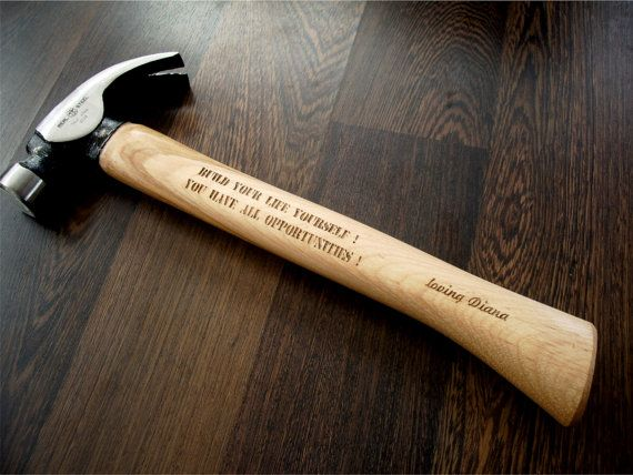 Personalized Engraved Hammer. Gift for Him: Dad, Husband, Brother, Boyfriend... Personalized tools and cutting boards