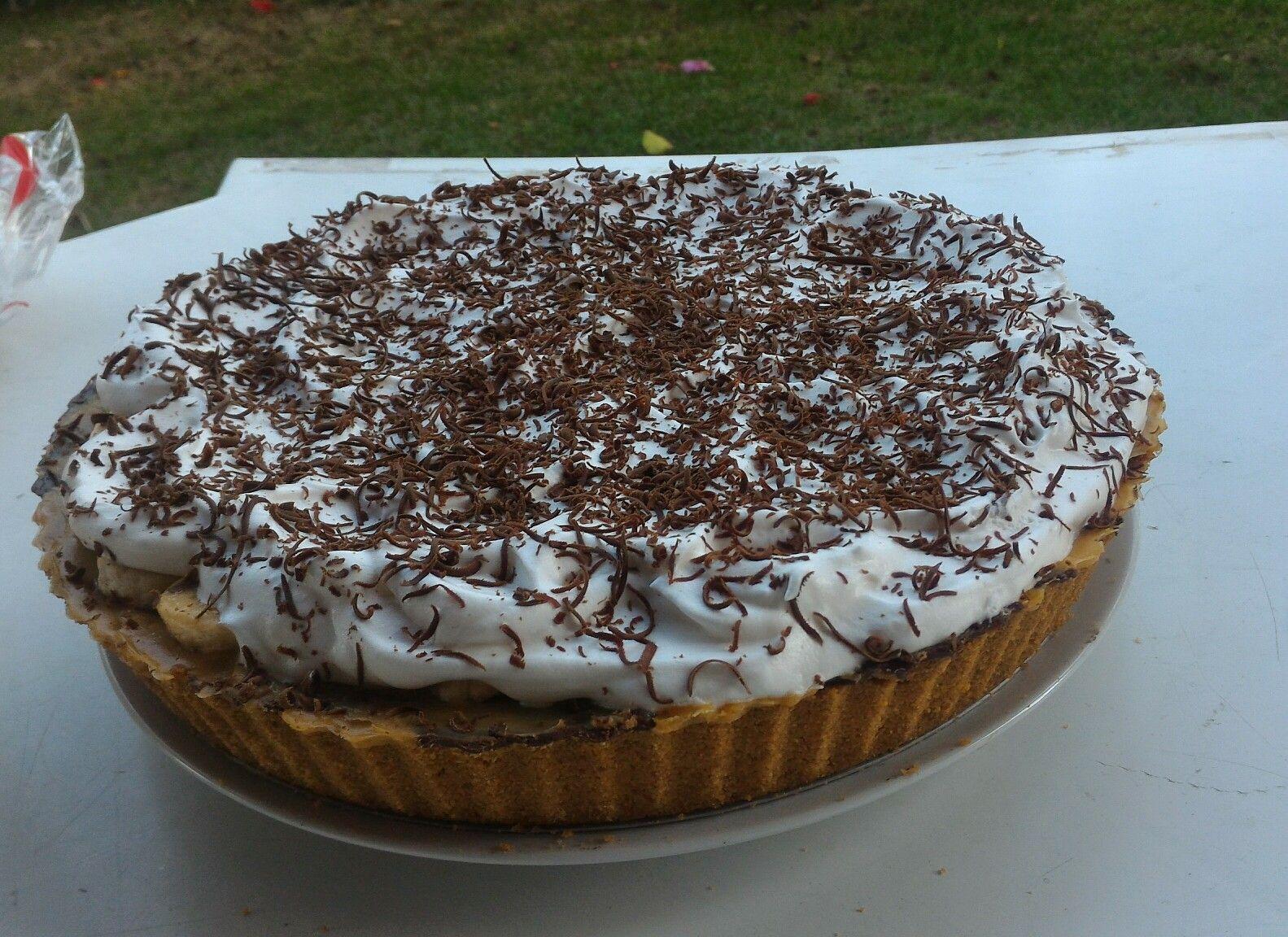 Bannoffe Pie. Extremamente deliciosa. Torta leve e nada enjoativa. Receita do ICKFD, By Daniele Noce.