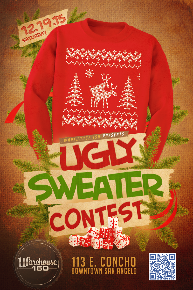 Uglysweater Contest Poster Flyer Design For Warehouse 150