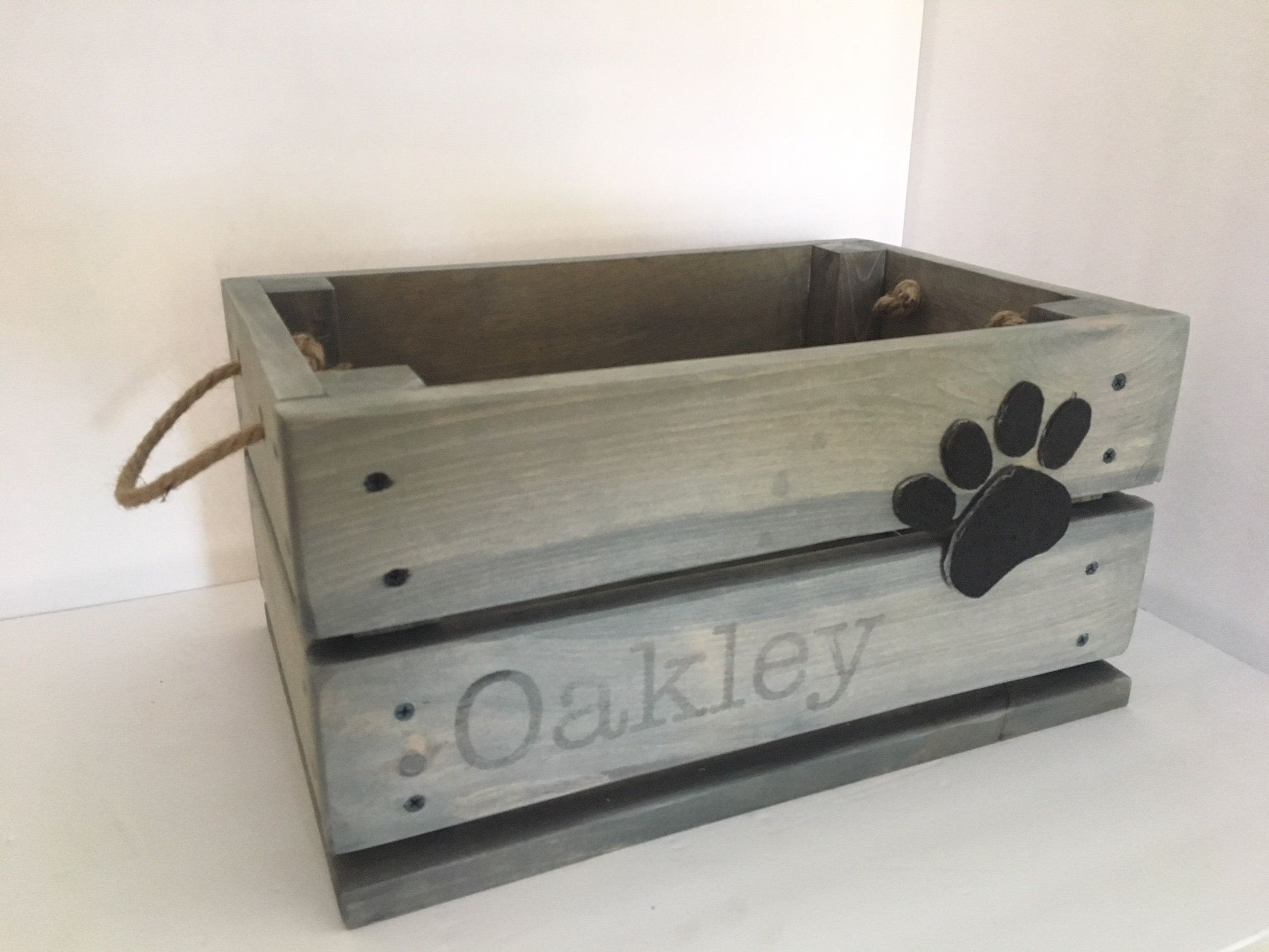 Personalized Dog Toy Box Dog Toy Crate Pet Toy Box Pet