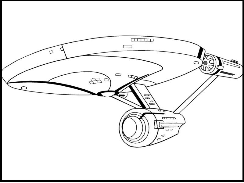 Star Trek Enterprise Plane coloring picture for kids Star Trek