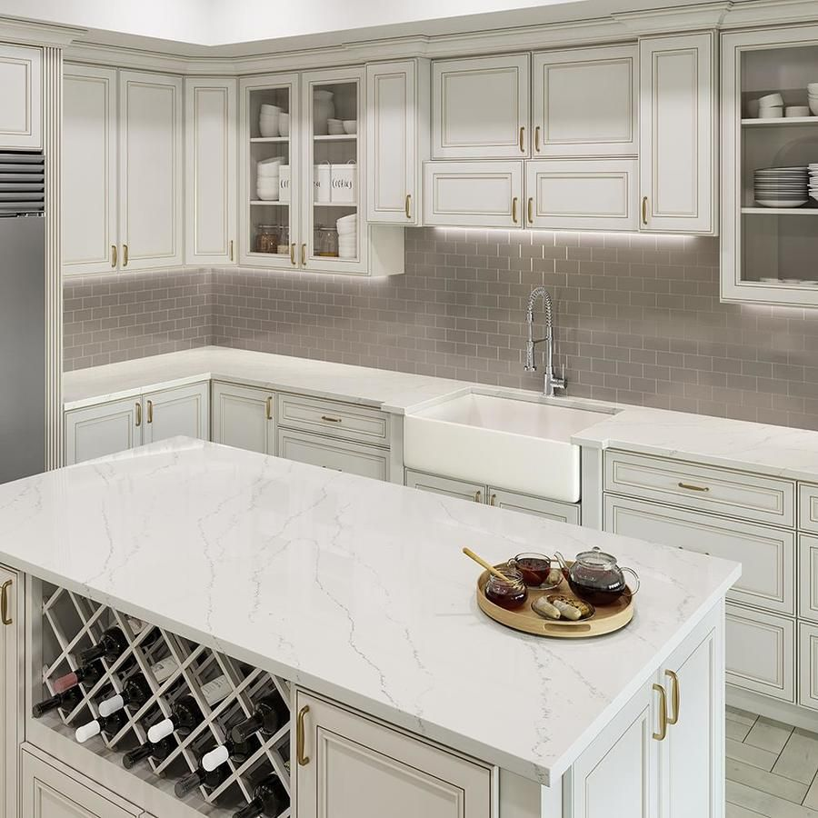 Allen Roth Alluring Quartz Kitchen Countertop Sample At Lowes