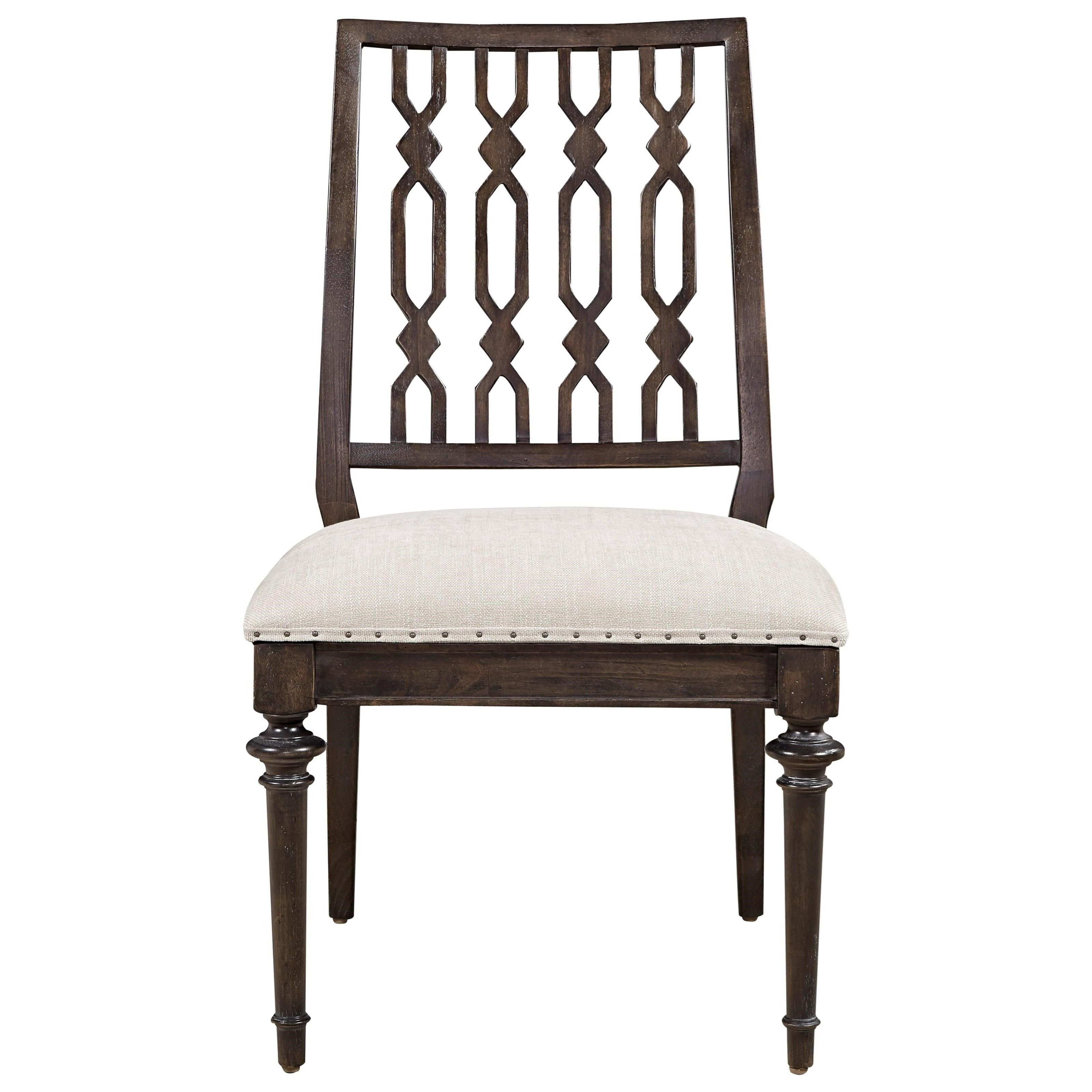 plymouth cable knit side chair by wittman heirloomclassic