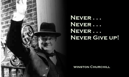 Never Never Never Never Give Up Picturequote By Winstonchurchill