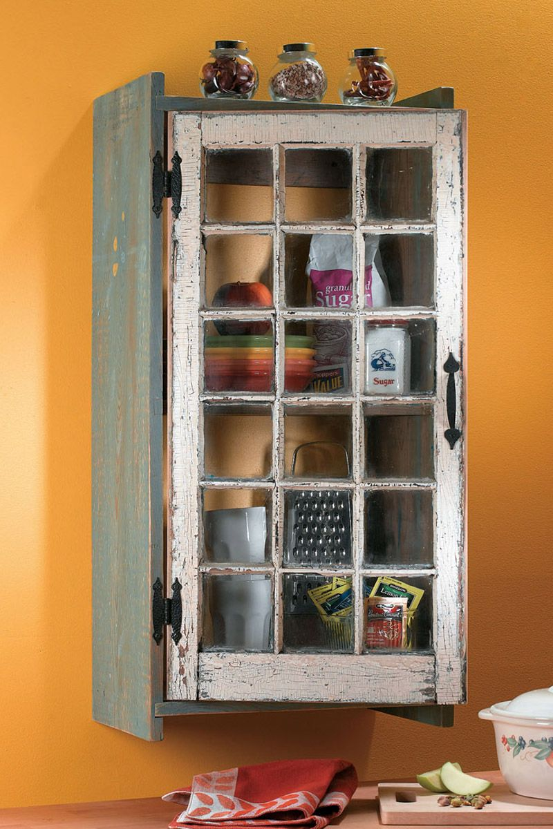 Turn an old window into a cabinet for my home pinterest doors