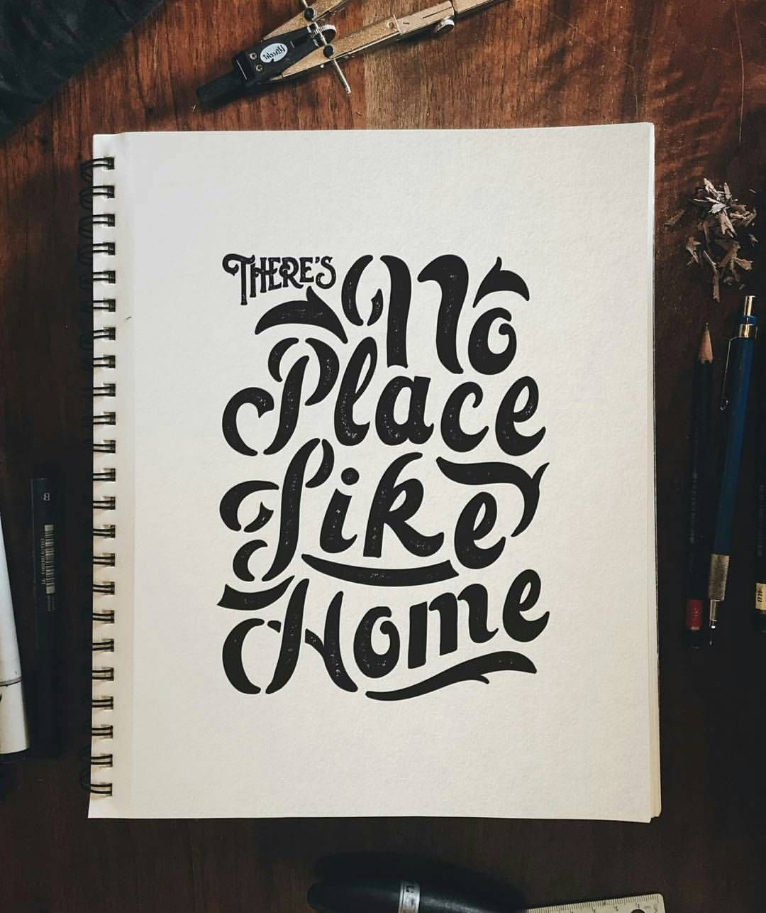 Theres No Place Like Home -From@wetherbeecreativeco . . #pixelsurplus #typography #type #dailytype #thedailytype #typelove #typedesign #graphicdesigns #graphicdesigners #typeeverything #inspiration #handlettering #handdrawn #designer #design #calligraphy #quote #quotes #quoteoftheday #fb#typespire #typegang #goodtype #illustration #handlettered #designers #lettering