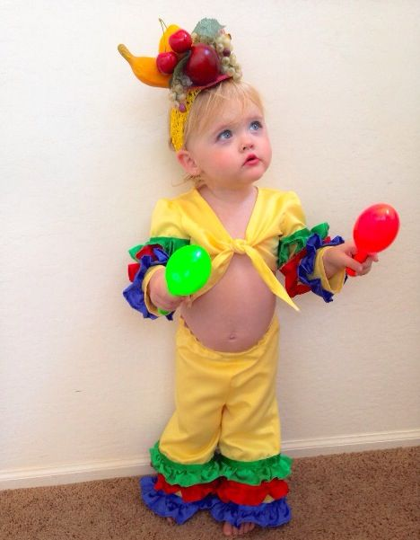 Halloween Outfits For Kids.Toddler Girl Costume Carmen Miranda Chiquita Banana