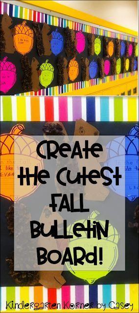 A Fun Fall Bulletin Board: Squirrels and Acorn Writing Templates ...
