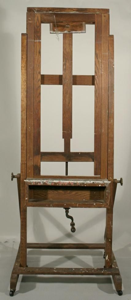 333 An adjustable oak artists easel  House and Home