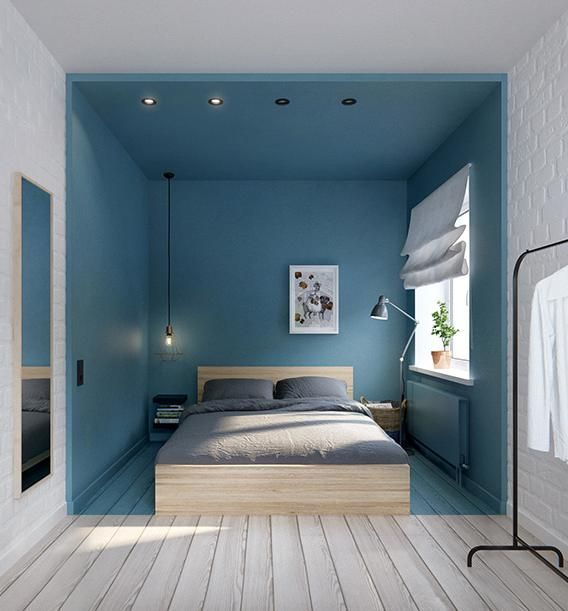 couloir entr e chambre en bleu fonce chambre pinterest maison chambre et decoration. Black Bedroom Furniture Sets. Home Design Ideas