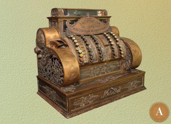 старинный кассовый аппарат галерея бомарше антиквариат