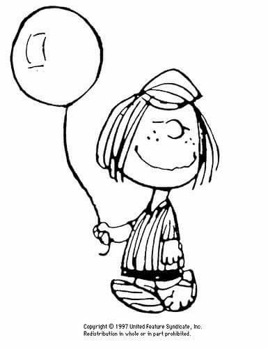 Peppermint Patty Life Is Like A Balloon If You Never Let Yourself Go You Will Never Know How Far You C Snoopy Coloring Pages Coloring Books Coloring Pages
