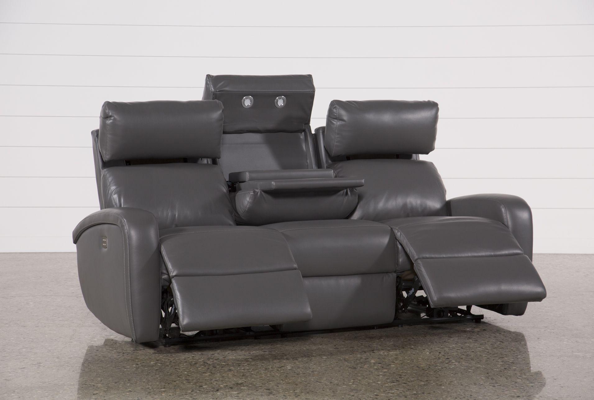 Admirable Living Room Sofa Recliner Darwin Graphite Power Reclining Cjindustries Chair Design For Home Cjindustriesco
