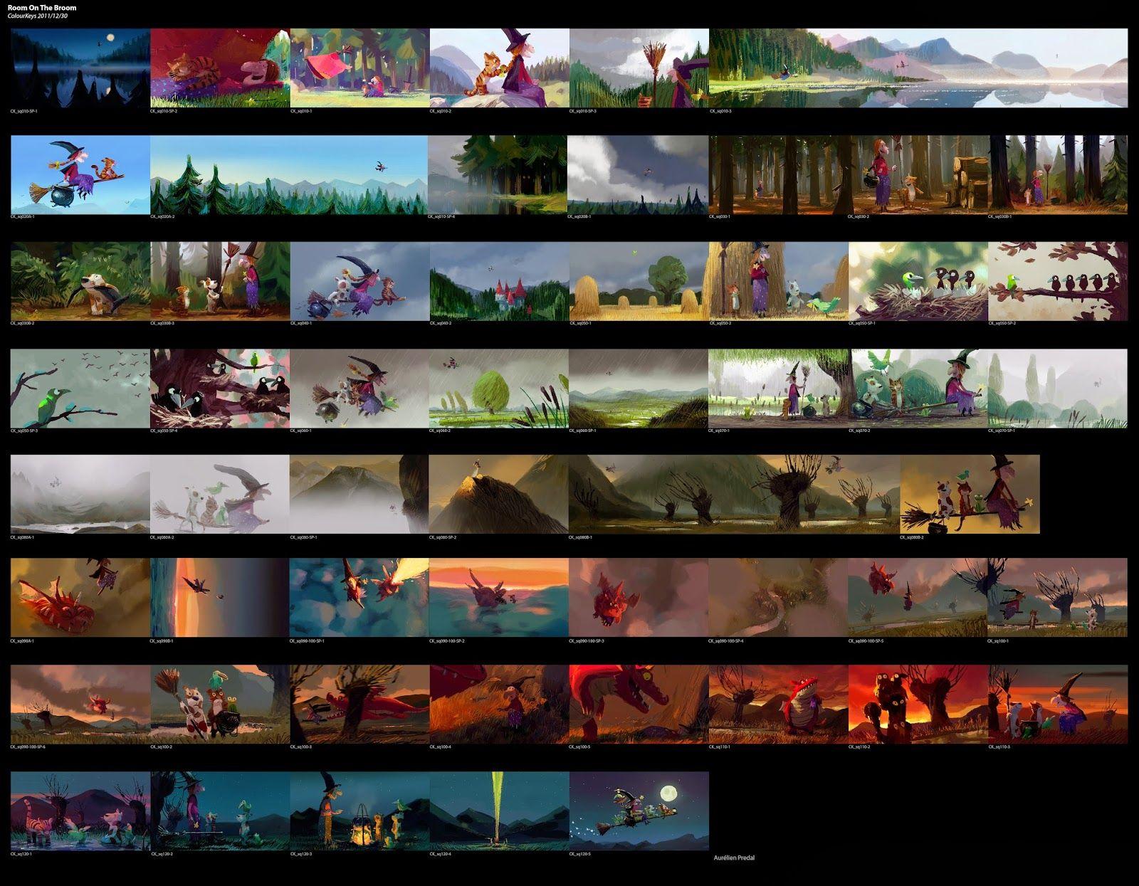 Mr Teckel   Storyboards    Color Script Storyboard