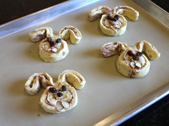 Cinnabunnies - made with Pillsbury cinnamon rolls. Can't wait until Easter!