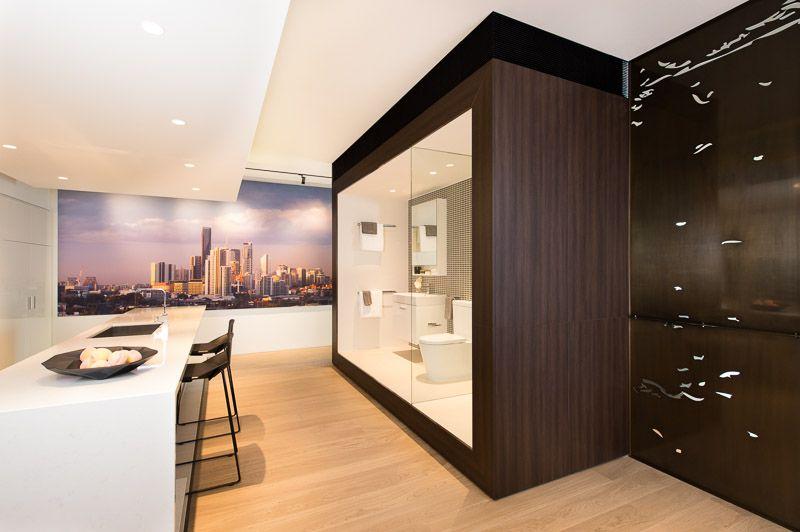 NAVURBAN Burwood   The Hudson Sales Office   Deign Firm: DBI Design    Joiner: Mayneline Kitchens U0026 Joinery