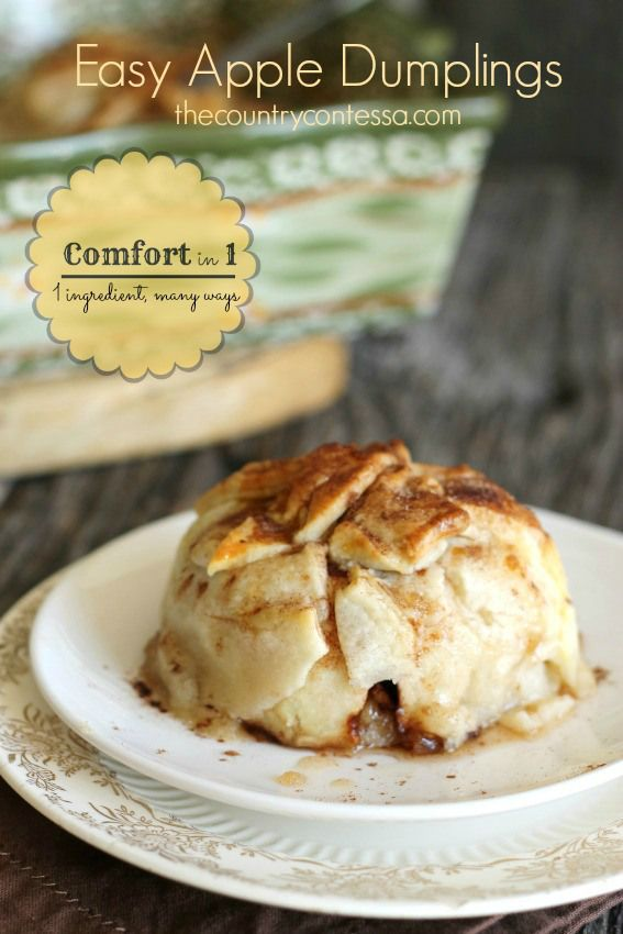 Easy apple dumplings recipe for Easy apple dessert recipes with few ingredients