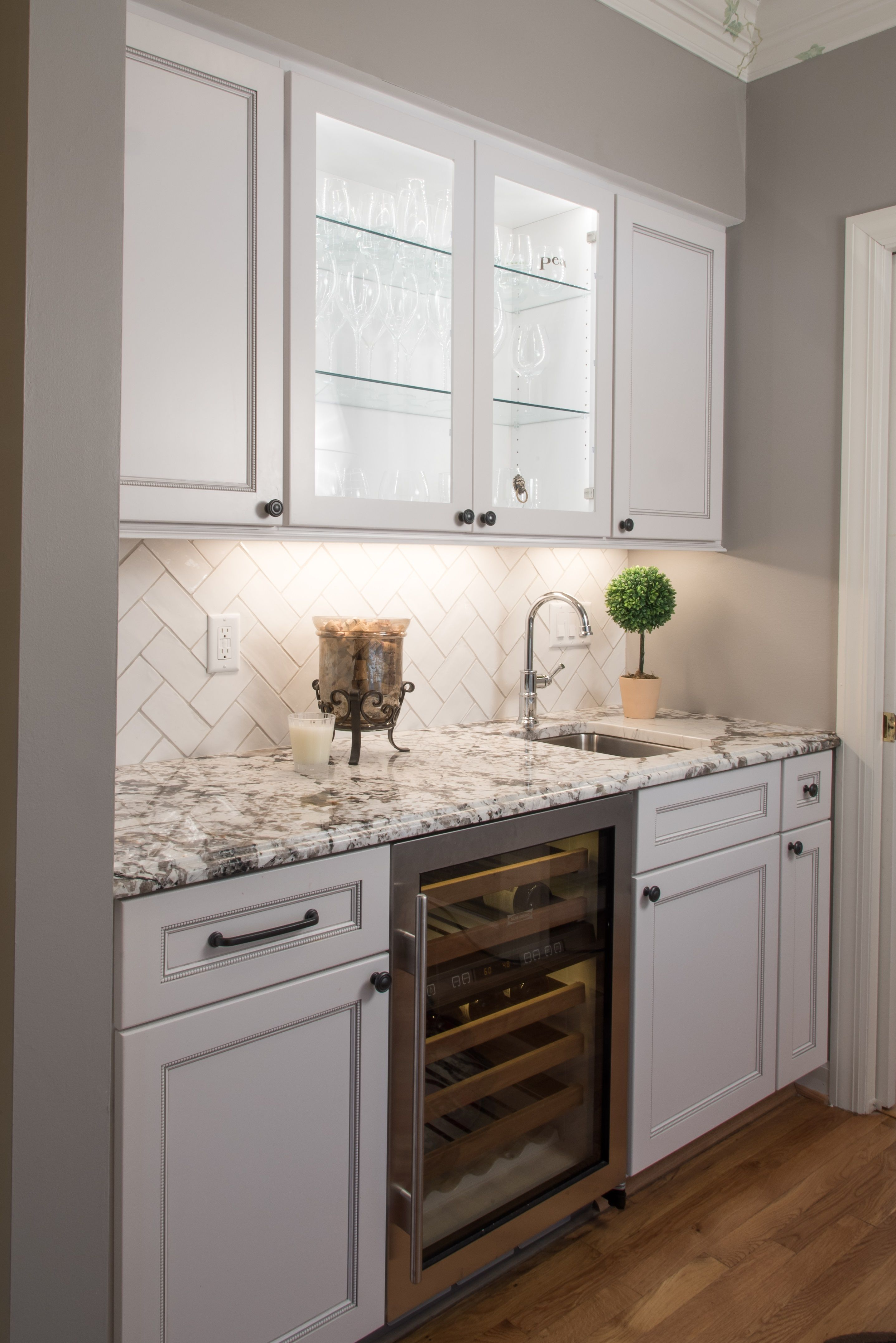 Add A Separate Area In Your Kitchen Just For Wine Check Out This Wine Station In The Bishop Ki Kitchen Inspiration Design Kitchen Remodel Kitchen Renovation