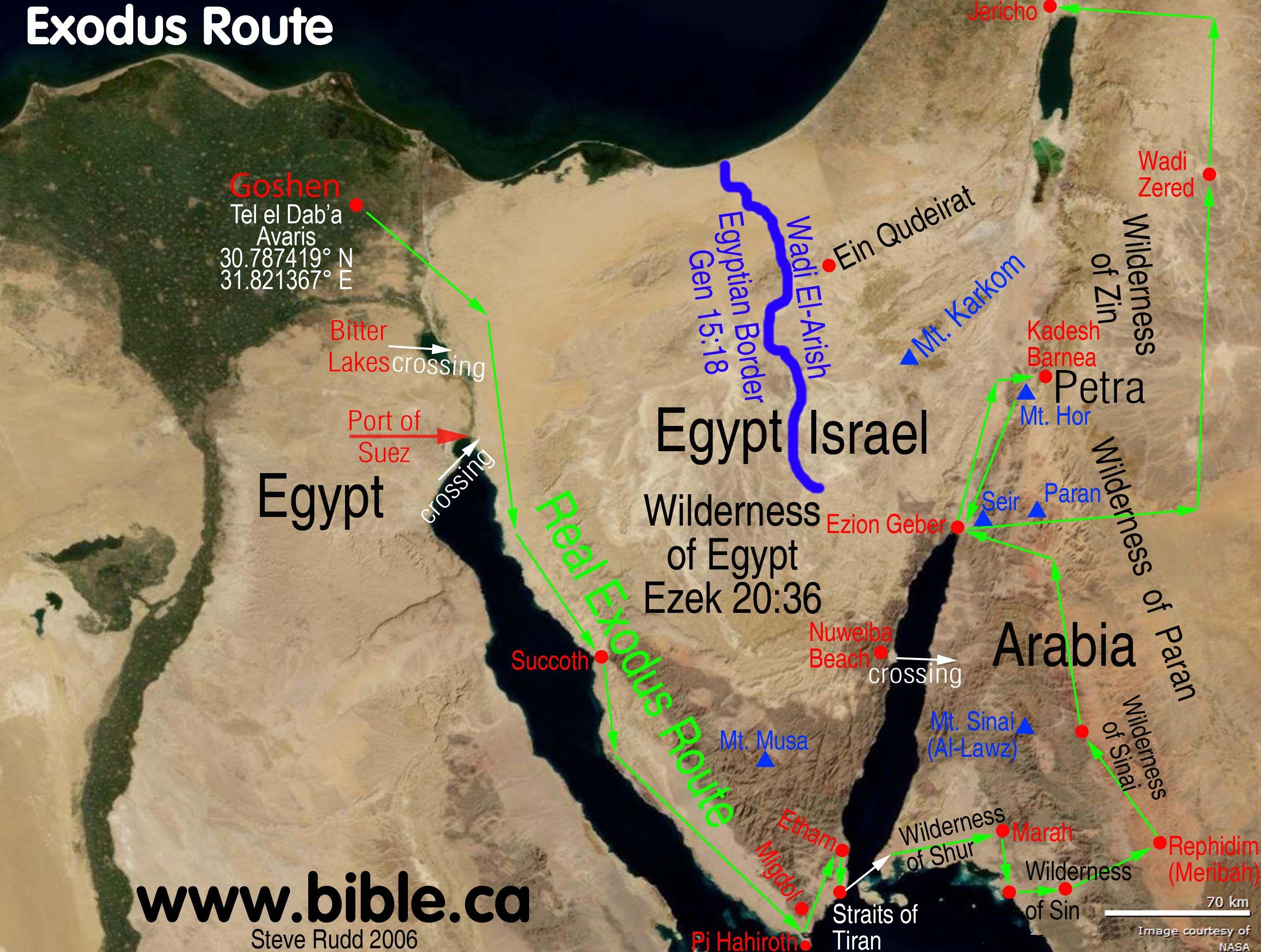 Bible maps Exodus route Bible maps Exodus