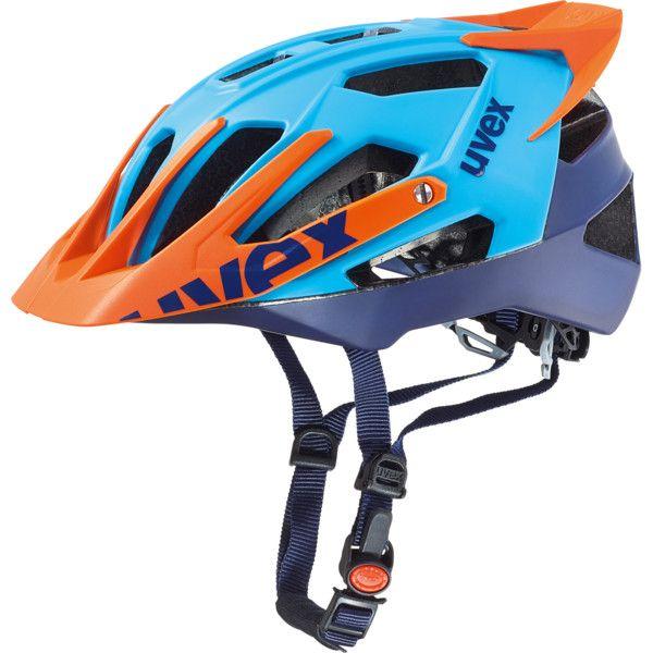 cycling helmet, uvex quatro pro, blue-orange mat