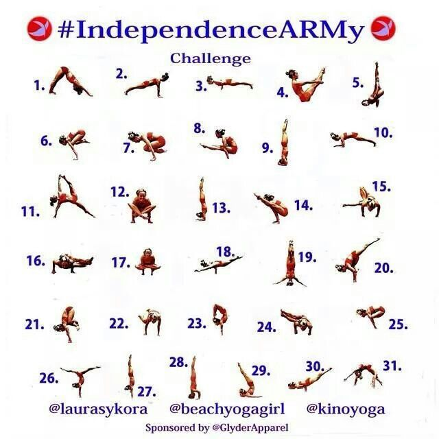 July Arm Balance Challenge Yoga Stuff Pinterest - army height and weight chart