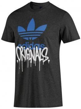 $30 Camiseta de hombre Adidas - algodón - impresión gota alta - Originals