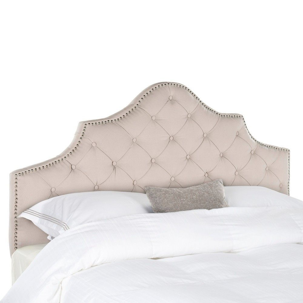 Kevon Tufted Headboard - Taupe (Brown) (Full) - Safavieh