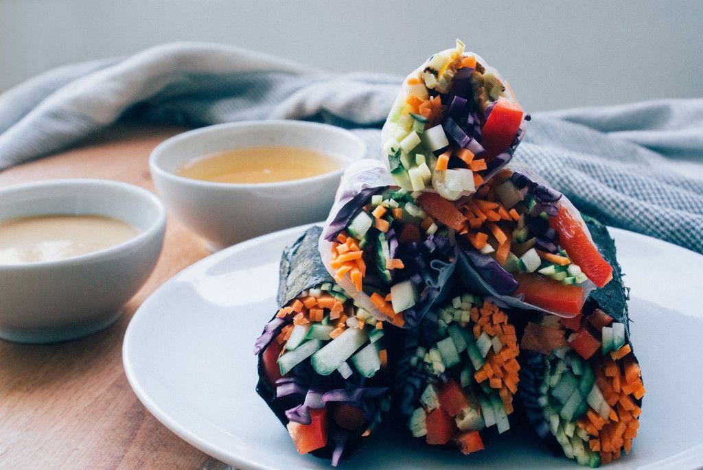 Raw Nori & Summer Rolls   Vegan   Rezept   Food   ivy.li