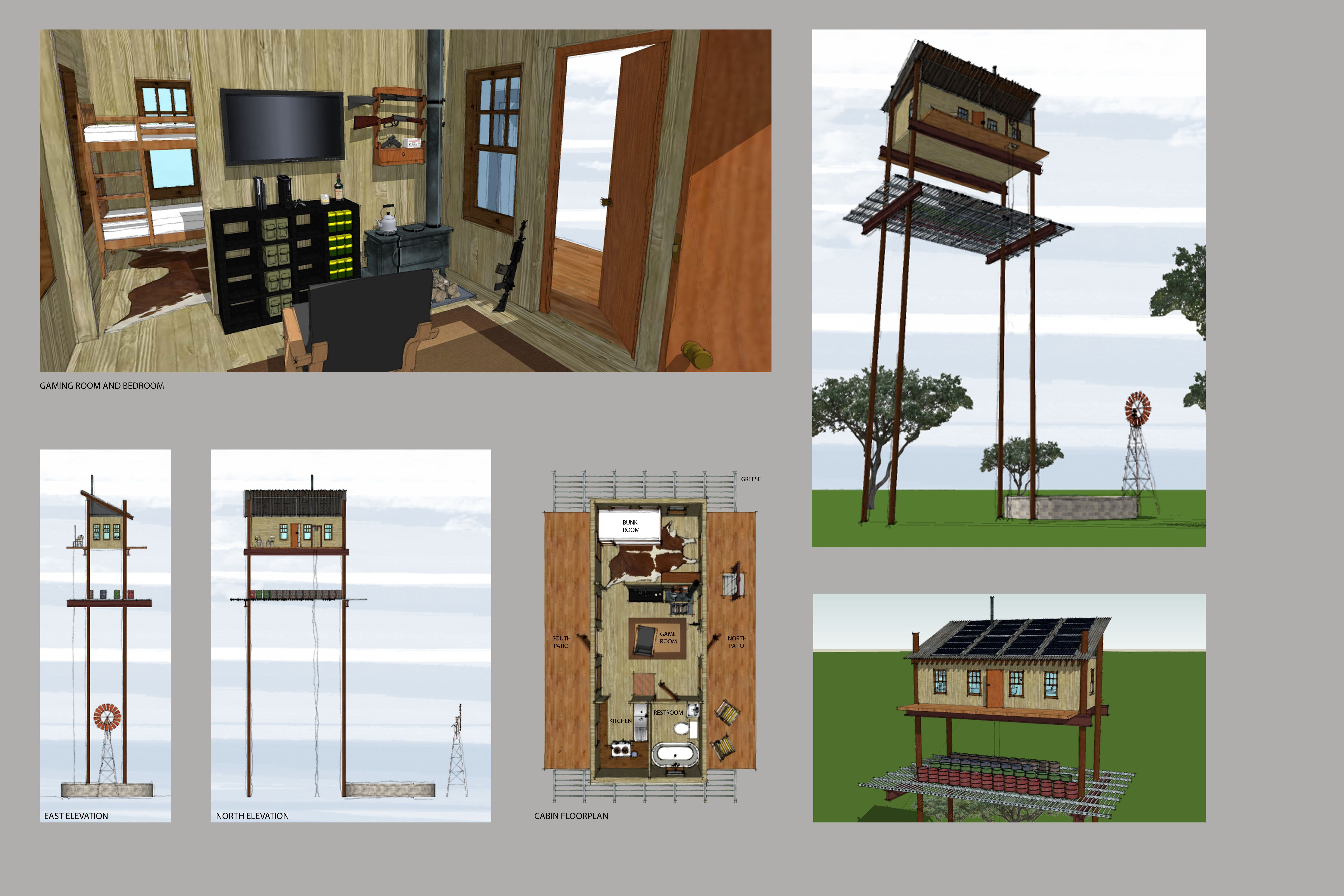 Zombie Safe House Cabin | Safe room, Tiny house design ... on sidecar plan, what's your plan, earthquake plan,