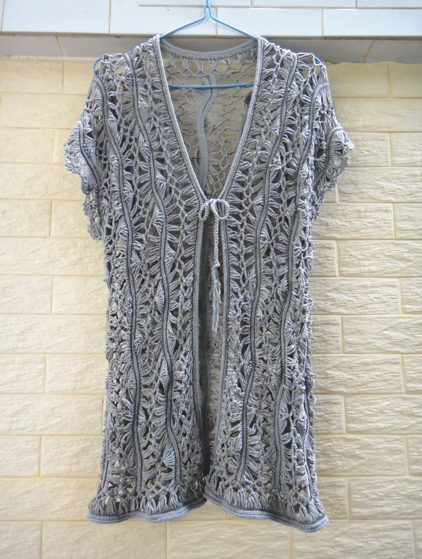 PLUS SIZE LONG CROCHET SLEEVELESS CARDIGAN WOMENS TUNIC TANK TOP ...