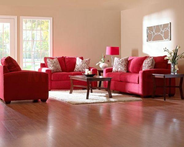 Rotes Sofa Ovaler Couchtisch Luftige Gardinen Wohnzimmer Einrichten | Couch  | Pinterest | Oval Couchtische, Rote Sofas Und Gardinen Wohnzimmer