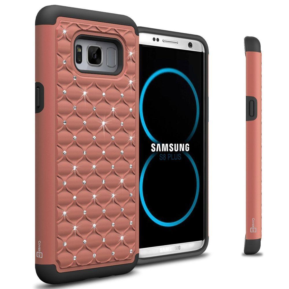 size 40 4fc19 669fe Samsung Galaxy S8 Plus Case Hybrid Cover Rhinestone Diamond Bling ...