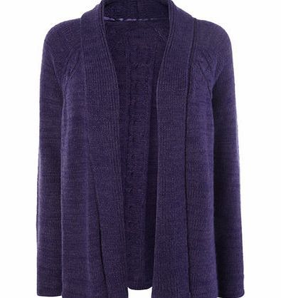 Bhs Purple Cable Back Open Front Longline Cardigan, This purple ...